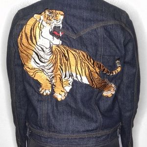 Rare Embroidered Tiger denim jacket